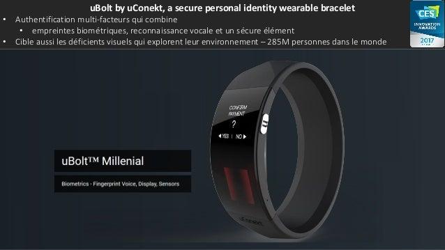uBolt by uConekt, a secure personal identity wearable bracelet • Authentification multi-facteurs qui combine • empreintes ...