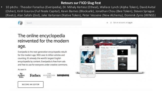 Retours sur l'ICO Slug Fest • 10 pitchs : Theodor Forselius (Everipedia), Dr. Mihaly Kertesz (Etheal), Wallace Lynch (Alph...