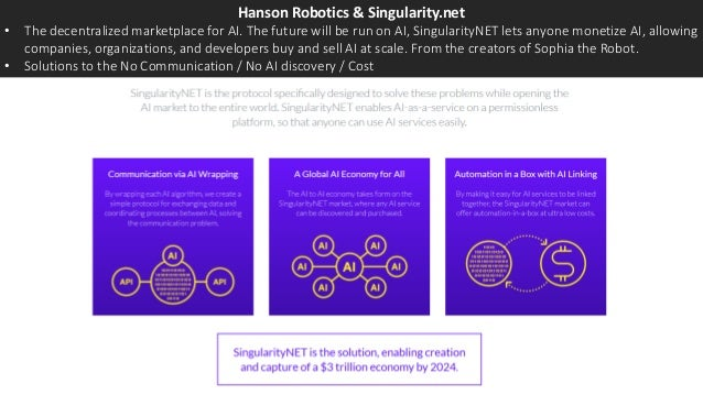 Hanson Robotics & Singularity.net • The decentralized marketplace for AI. The future will be run on AI, SingularityNET let...