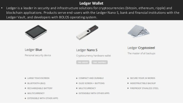 Ledger Wallet • Ledger is a leader in security and infrastructure solutions for cryptocurrencies (bitcoin, ethereum, rippl...