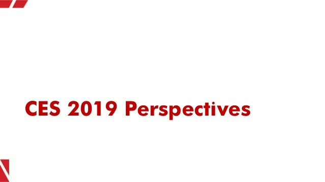 CES 2019 Perspectives