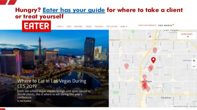 Hungry? Eater has your guide for where to take a client or treat yourself