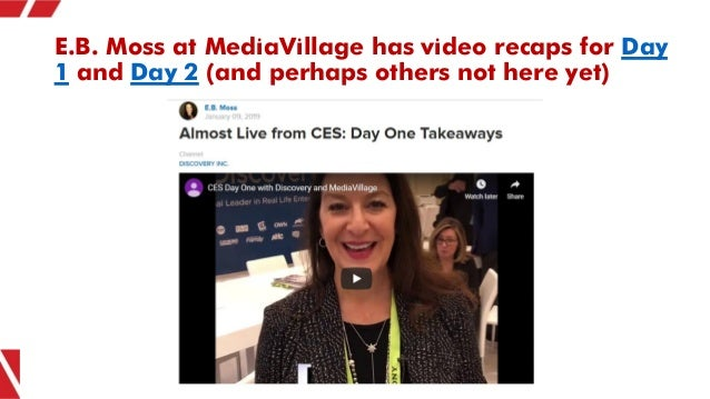 E.B. Moss at MediaVillage has video recaps for Day 1 and Day 2 (and perhaps others not here yet)