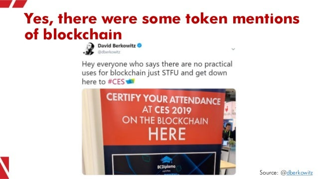 Yes, there were some token mentions of blockchain Source: @dberkowitz