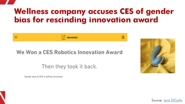 Wellness company accuses CES of gender bias for rescinding innovation award Source: Lora DiCarlo