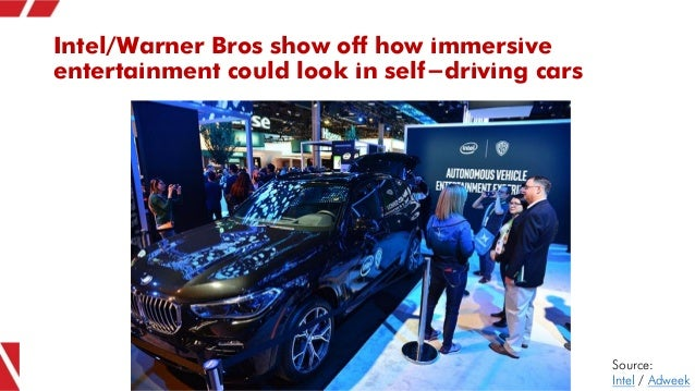 Intel/Warner Bros show off how immersive entertainment could look in self-driving cars Source: Intel / Adweek