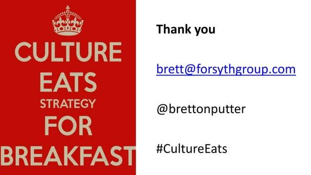 Culture Eats Strategy for Breakfast