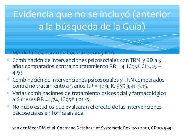 ∗ Revision sistematica de 8 estudios ∗ No presenta resultados sumarios por elevada heterogeneidad ∗ No encontro diferencia...