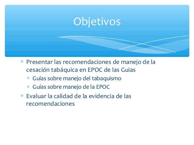 Que nos dicen las guias sobre la cesacion en EPOC Slide 2
