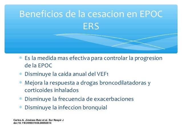 Características de la consejería en fumadores con EPOC ∗ Explicacion de la relacion causal entre fumar y EPOC y la relacio...