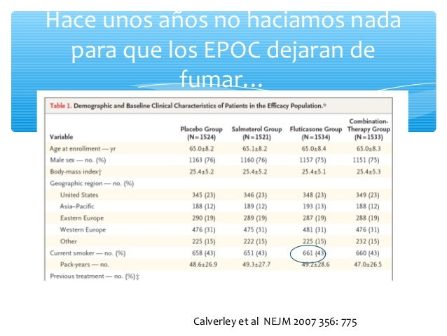 Que nos dicen las guias sobre la cesacion en EPOC Slide 3