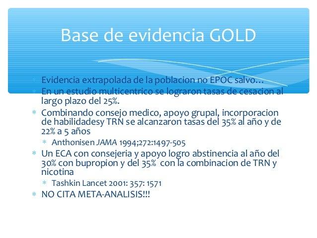Guia GesEPOC Base de evidencia: Recomendación SEPAR