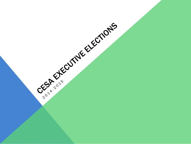 ELIZABETH STAINER 1. As one of the 1st Year reps for CESA this year, I've gained a lot of experience representing Con Ed s...