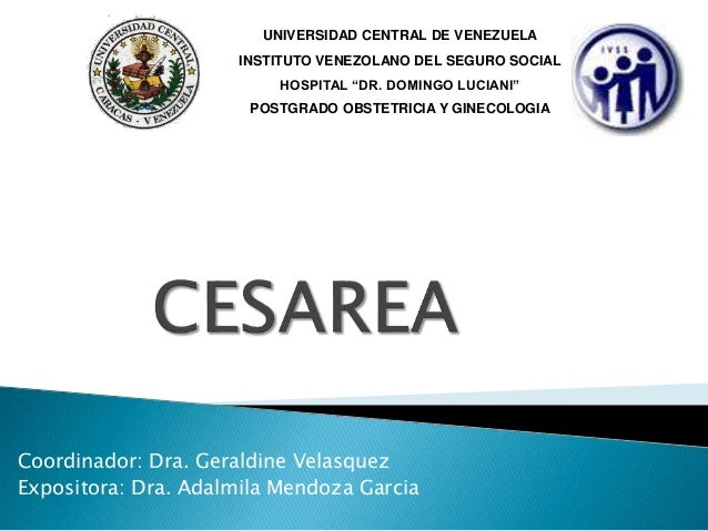 Coordinador: Dra. Geraldine Velasquez Expositora: Dra. Adalmila Mendoza Garcia UNIVERSIDAD CENTRAL DE VENEZUELA INSTITUTO ...