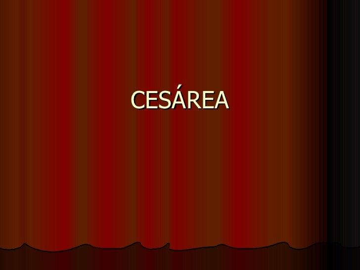 CESÁREA