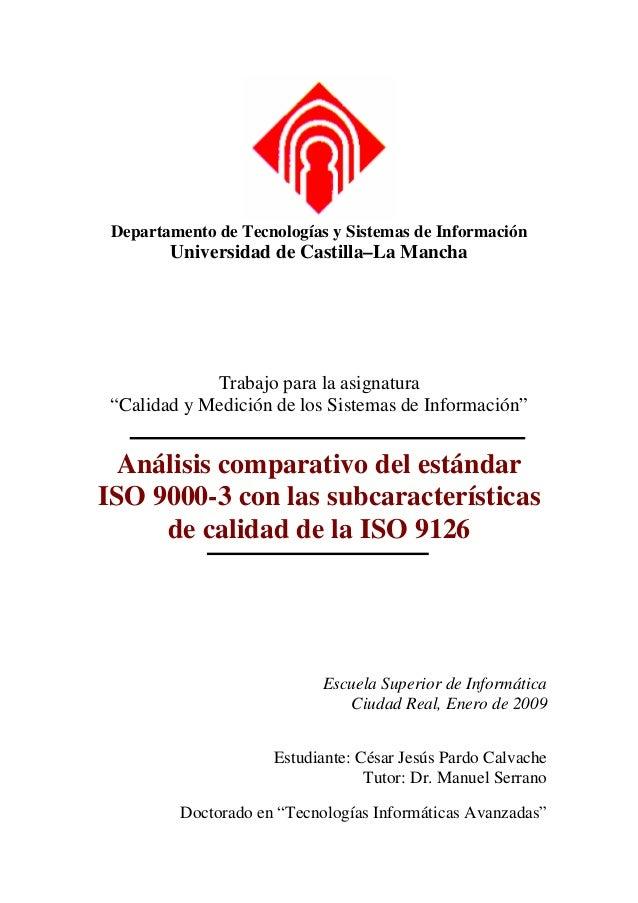 Departamento de Tecnologías y Sistemas de Información        Universidad de Castilla–La Mancha             Trabajo para la...