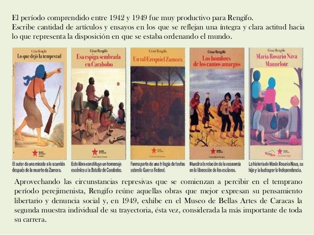 El período comprendido entre 1942 y 1949 fue muy productivo para Rengifo. Escribe cantidad de artículos y ensayos en los q...