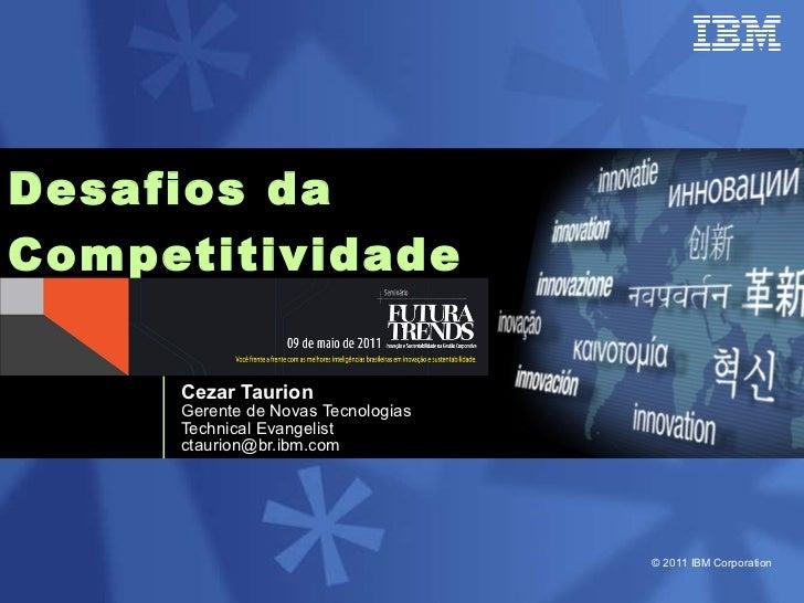 Desafios da  Competitividade   Cezar Taurion Gerente de Novas Tecnologias Technical Evangelist [email_address]