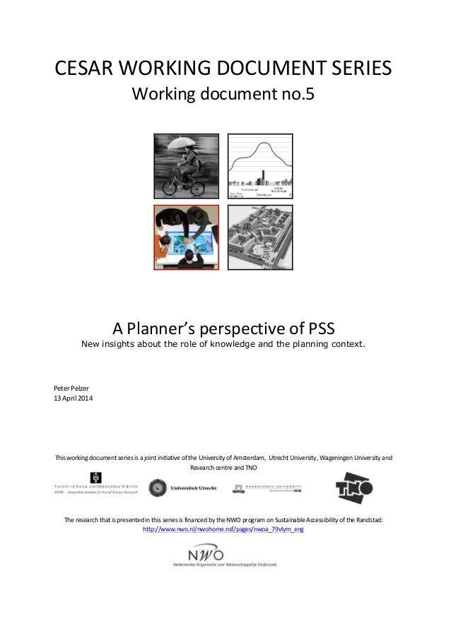 CESAR  WORKING  DOCUMENT  SERIES   Working  document  no.5                       A  Planner'...