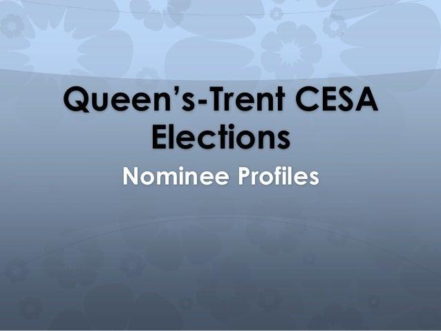 Queen's-Trent CESA    Elections   Nominee Profiles