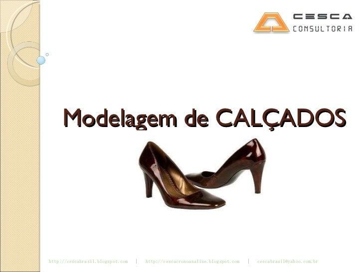 Modelagem de CALÇADOS