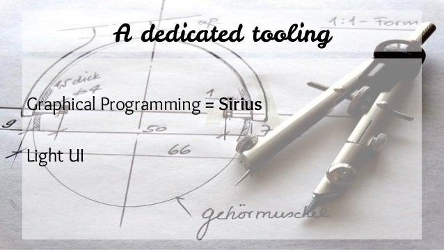 A dedicated tooling Graphical Programming = Sirius Light UI