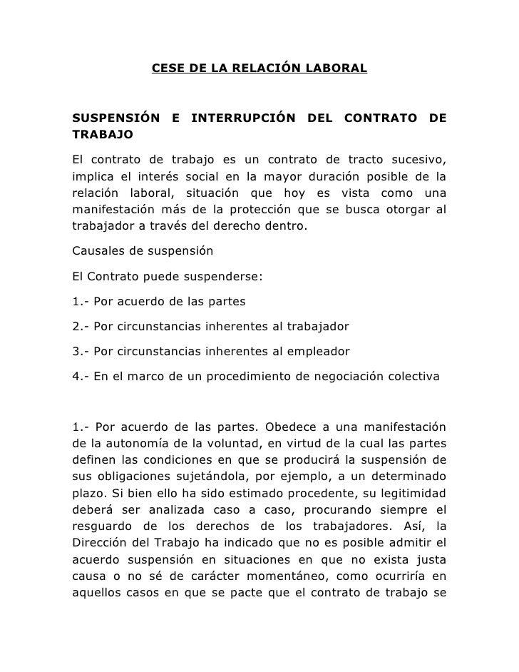 Cese de la relaci n laboral Modelo contrato empleada de hogar interna