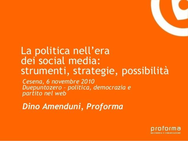 Strategia di comunicazione Gianni Florido e la Provincia di Taranto La politica nell'era dei social media: strumenti, stra...