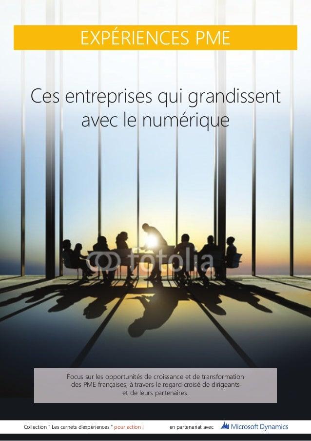 """EXPÉRIENCES PME  Ces entreprises qui grandissent avec le numérique  Collection """" Les carnets d'expériences """" pour action !..."""