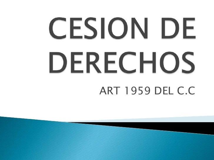 ART 1959 DEL C.C