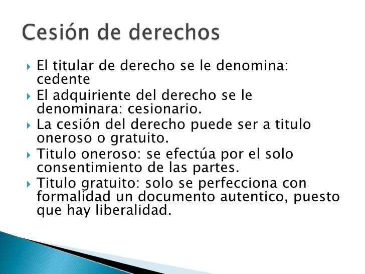Cesion de derechos  Slide 3