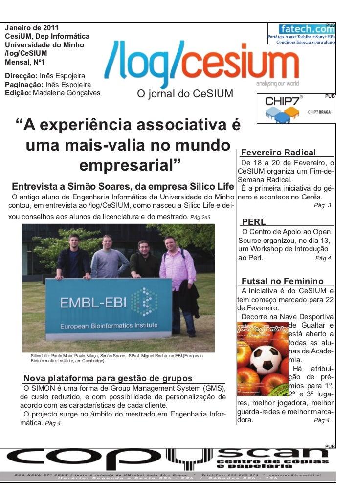 PUBJaneiro de 2011CesiUM, Dep Informática                                                                                 ...
