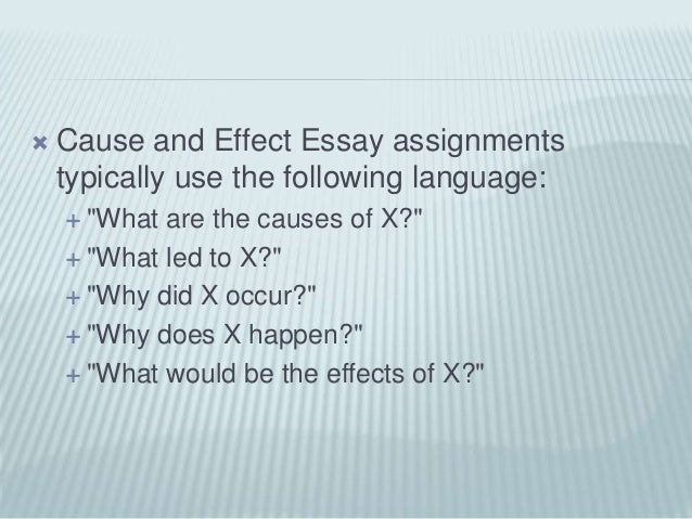 c e slidehare powerpoint 5  cause and effect essay