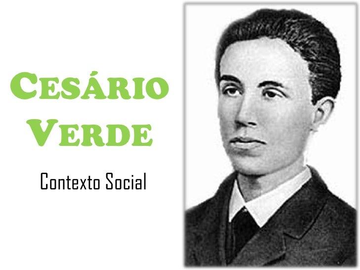 CESÁRIO VERDE Contexto Social