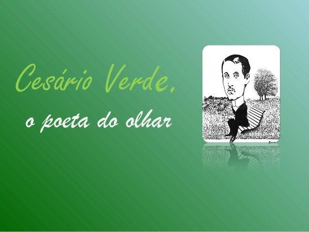 Cesário Verde, o poeta do olhar
