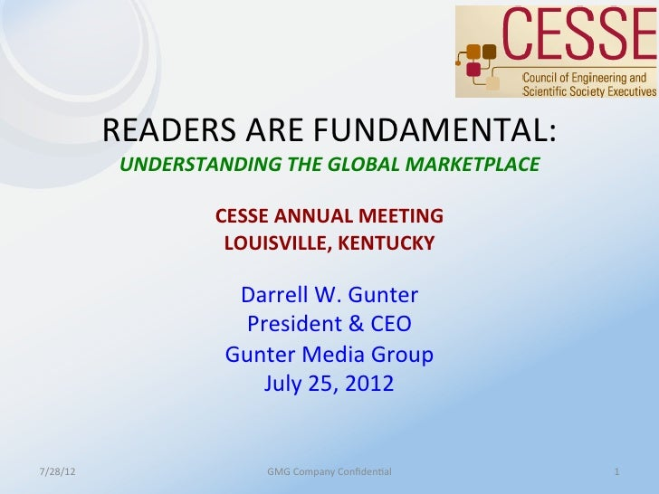 READERS	  ARE	  FUNDAMENTAL:	                 UNDERSTANDING	  THE	  GLOBAL	  MARKETPLACE	                                 ...