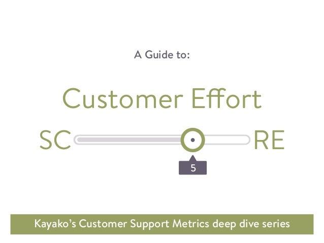 A Guide to: Kayako's Customer Support Metrics deep dive series Customer Effort 5