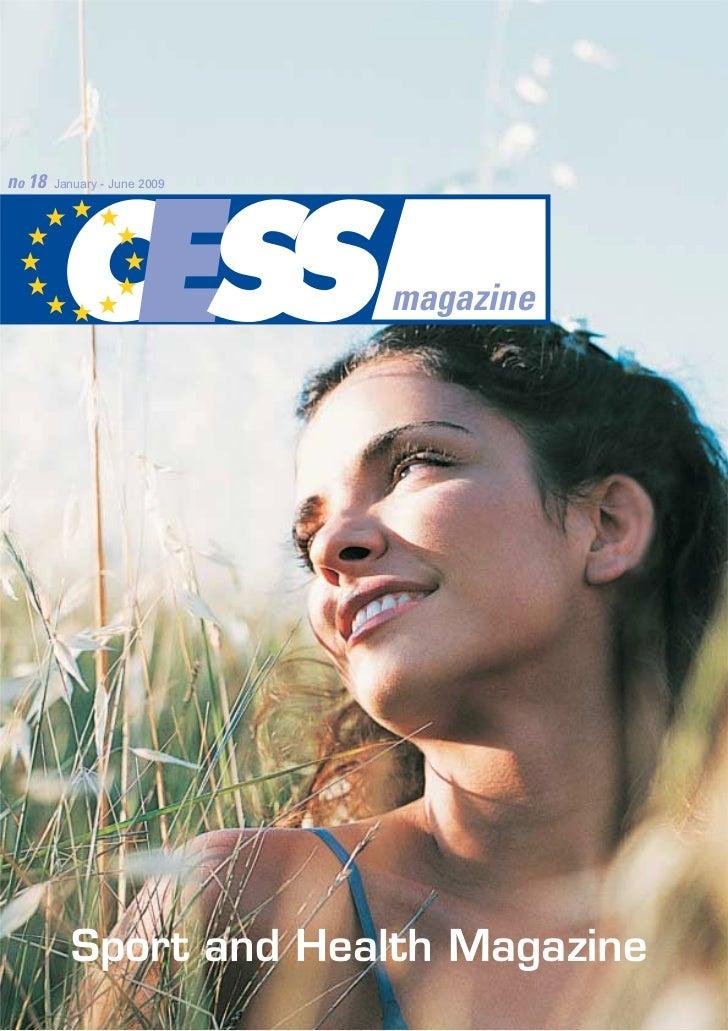 no 18   January - June 2009                              magazine          Sport and Health Magazine