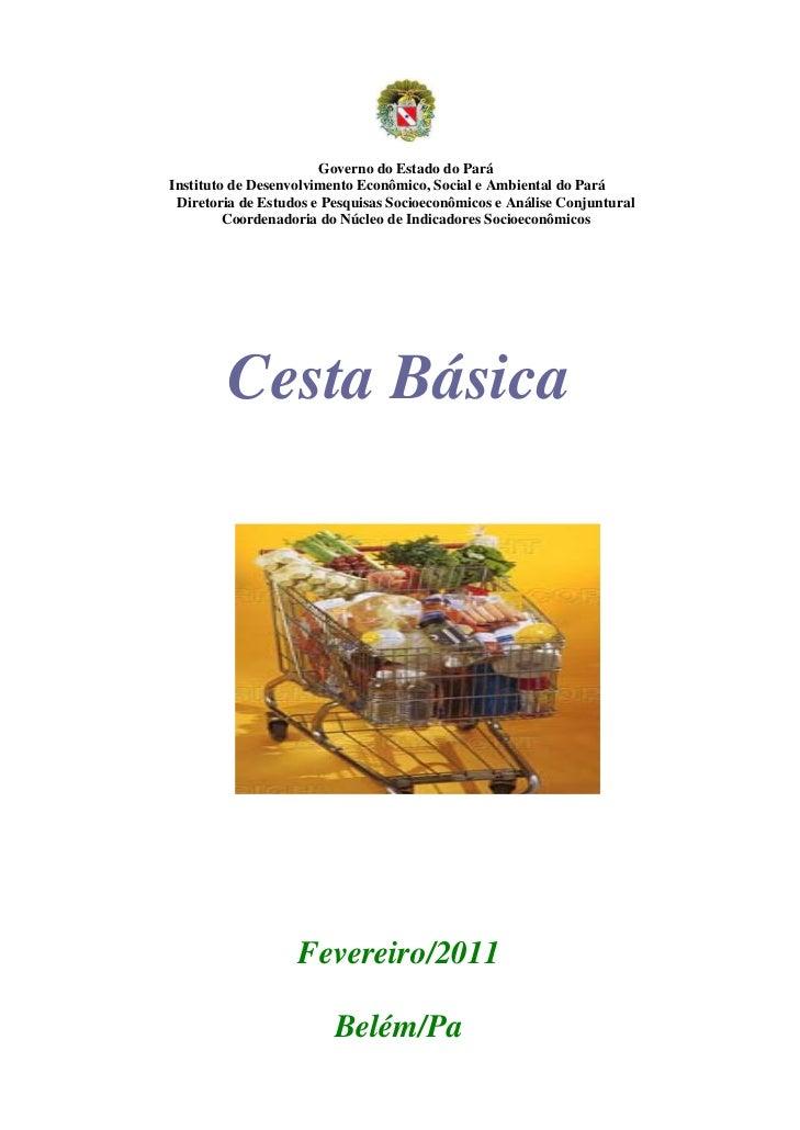Governo do Estado do ParáInstituto de Desenvolvimento Econômico, Social e Ambiental do Pará Diretoria de Estudos e Pesquis...