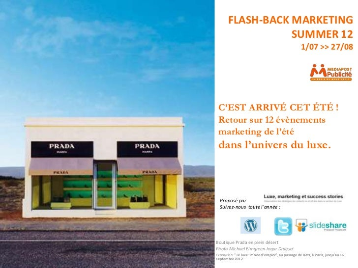 FLASH-BACK MARKETING                  SUMMER 12                                                     1/07 >> 27/08 C'EST AR...