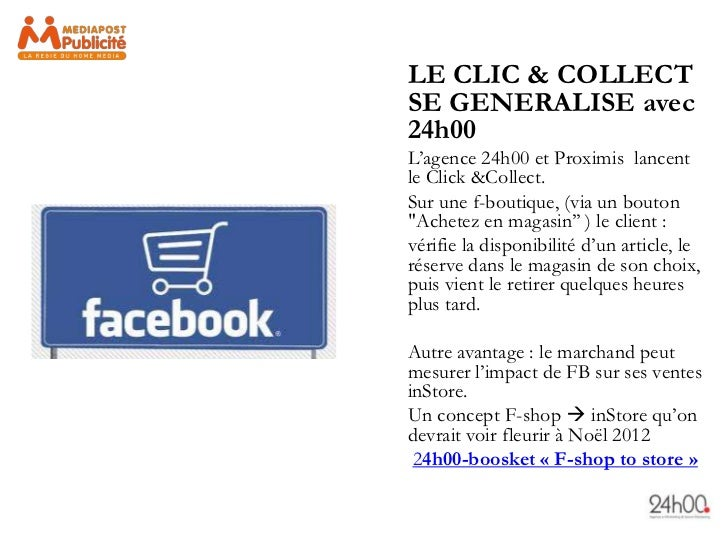 LE CLIC & COLLECTSE GENERALISE avec24h00L'agence 24h00 et Proximis lancentle Click &Collect.Sur une f-boutique, (via un bo...