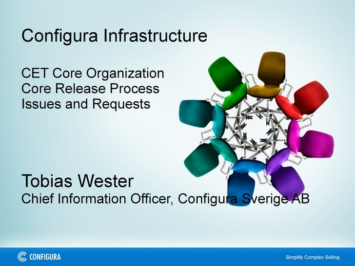 Configura Infrastructure CET Core Organization Core Release Process Issues and Requests Tobias Wester Chief Information Of...