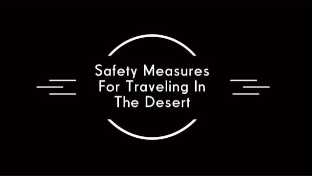 Safety Measures For Traveling In The