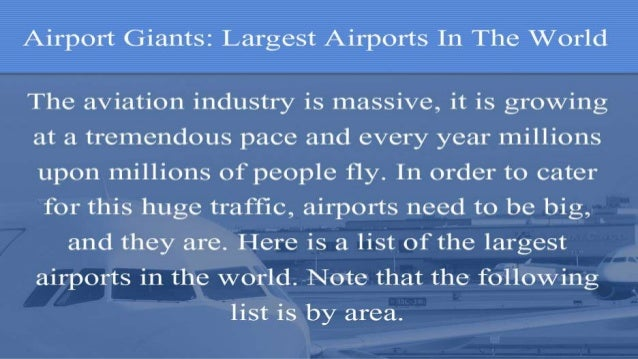 Largest Airports In The World Slide 2