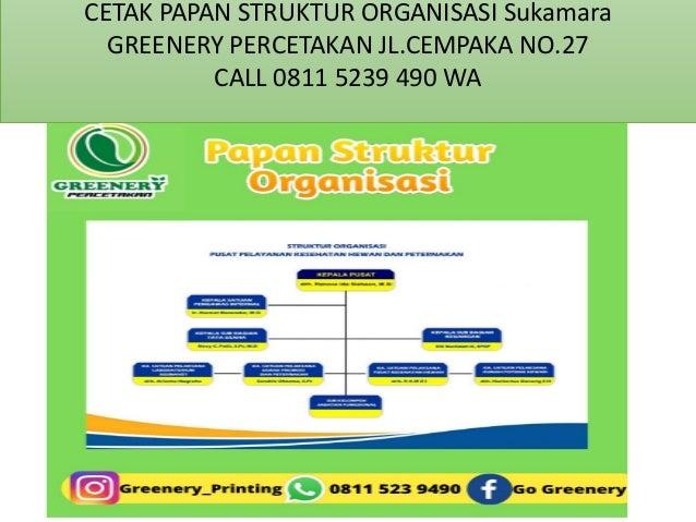 CALL 0811 5239 490 WA Cetak Papan Struktur Organisasi  Sukamara Slide 3