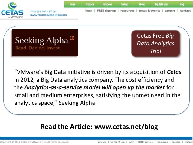 Cetas Free Big                                                 Data Analytics                                             ...