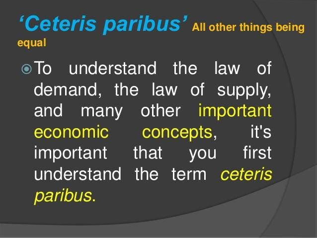 examples of ceteris paribus violations