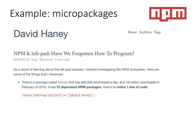 Example: micropackages