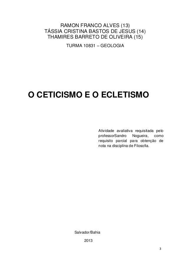 Ceticismo Filosófico Slide 2