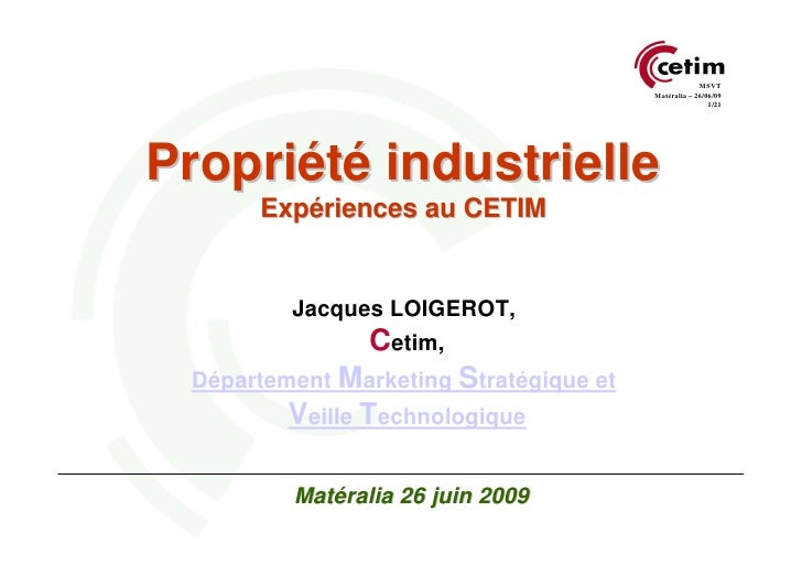 MSVT                                         Matéralia – 26/06/09                                                         ...